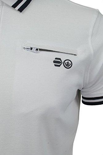 CrossHatch Herren Polo T-Shirt von Crazer' Kurzärmlig Weiß
