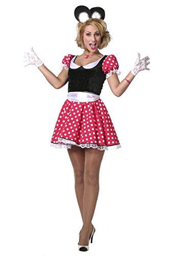 Damen Kostüm süße Comic Maus Lady Karneval Fasching (Süßes Comic Kostüm)