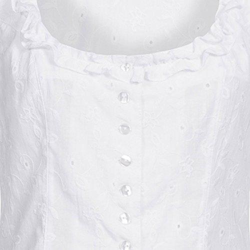 Hess TrachtenMieder Moni in Weiß, Größe:34, Farbe:Weiß - 2