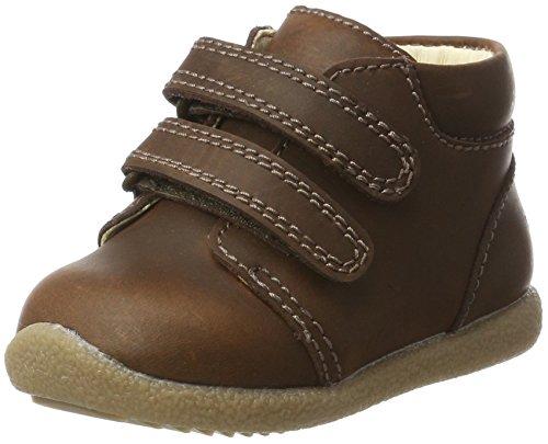 EN FANT Unisex Baby Beginner Shoe Velcro Stiefel, Braun (Brown), 21 EU (Brown Herren Label Neue)