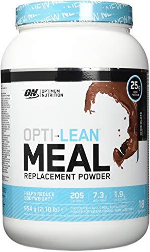 Optimum Nutrition Opti-Lean Mahlzeitersatz Protein Pulver (mit Vitamin A, C, D und balaststoffreich. Fettarmer Eiweisspulver von ON) Chocolate, 18 Portionen, 954g
