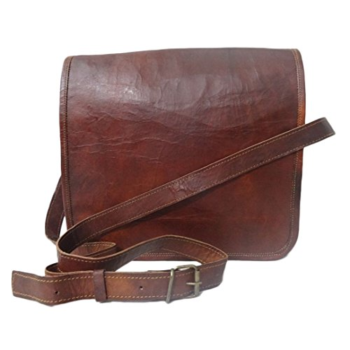 Madosh, Handgefertigte Vintage Crossbody Flap Bag aus echtem Leder Schulter Tablet Laptop 11 'Tasche
