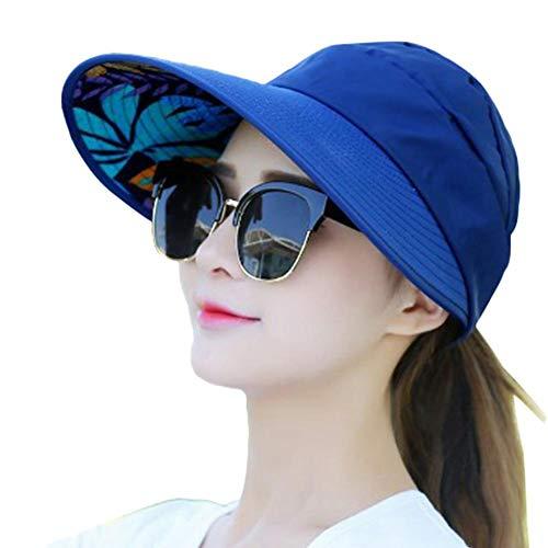 Qiao Nai(TM Outdoor Schutz UV-Proof Hut,Frauen-beiläufiger faltender Breiter Rand-Sommer-Strand Anti-UV Kappe (NDG)