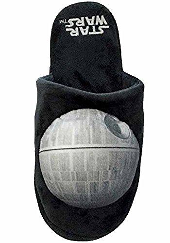 Offizielle Star Wars Tod Sterne Erwachsenen Mule Slip-on-Hausschuhe - UK 5-7 Schwarz