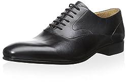Valentino Mens Leather Oxford, Nero, 41 M EU/8 M US