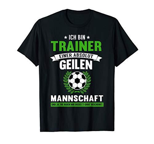Herren Fussball Trainer T-Shirt   Lustiges Fussball Coach Geschenk (Lustige Fußball-t-shirts)