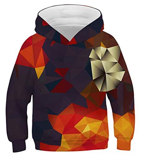 Idgreatim Teenager Pullover Hoodies 3D Planet Sweatshirt Retro Lustige Teenager Pullover Kapuzenpullover M - Retro-sweatshirt