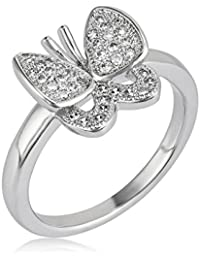 shaze Rhodium Plated Flicker Wing Rings for Women | Rings for Women Stylish | Ring for Girlfriend