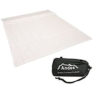 41BqiLB%2BSOL. SS300  - Andes Polycotton Double Sleeping Bag Liner Inner Camping Sheet
