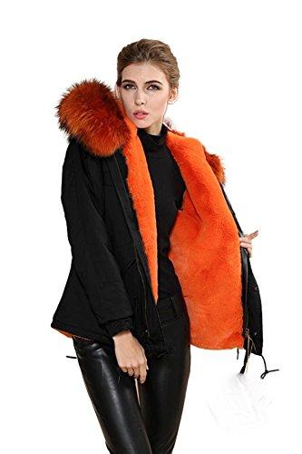 Lea-Marie - Blouson - Parka - Femme Vert vert XX-Large Orange