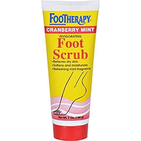 Footherapy Cranberry Mint Foot Scrub Queen Helene 7 oz Scrub by Queen Helene