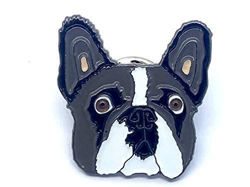 Patch Nation Französische Bulldogge Boston Terrier Metall Button Badge Pin Pins Anstecker Cosplay Brosche