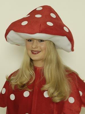 Pilz Kostüm Fliegenpilz - Fliegenpilzhut für Erwachsene