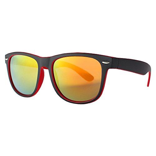 DISTRESSED Hornbrille im Wayfarer Stil Boho Vintage 80er Jahre Sonnenbrille Unisex verspiegelt 2217...