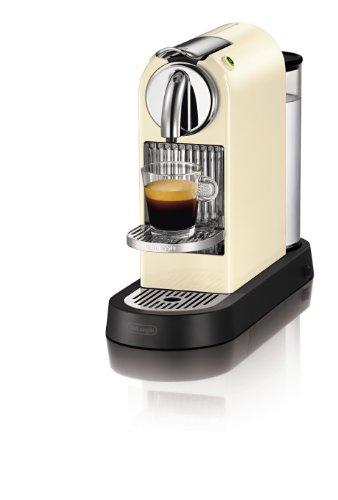 DeLonghi EN 165 CW Nespresso Citiz 19 bar Flow Stop, cream white - Macchiato Nespresso Gläser Latte