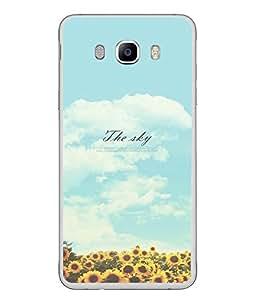 FUSON Designer Back Case Cover for Samsung Galaxy J5 (6) 2016 :: Samsung Galaxy J5 2016 J510F :: Samsung Galaxy J5 2016 J510Fn J510G J510Y J510M :: Samsung Galaxy J5 Duos 2016 (Garden Flowers Parks Blue Sky Sun Shine)
