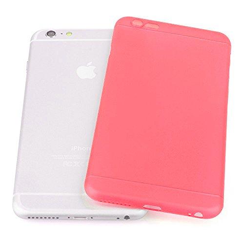 Original TheSmartGuard iPhone 6S-6 Hülle Case Schutzhülle (4,7 Zoll) - Ultra-Slim / Ultra-dünn - NEU mit integriertem Schutz für die Kamera-Linse - Farbe schwarz transparent Ultra dünn - Rot