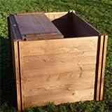 Holz Komposter Mit Deckel - 75 cm x 90 cm x 90 cm.
