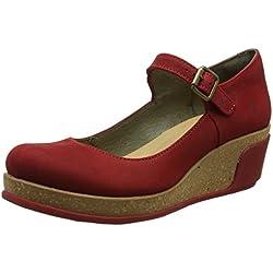 El Naturalista 5004, Zapatos de Cuñas Mary Jane Mujer, Rojo (Tibet)