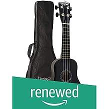 (Renewed) Martin Smith UK-212 Ultimate Soprano UKulele Starter Kit (Black)