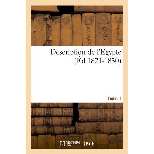 Description de l'Egypte Tome 1 (Éd.1821-1830)
