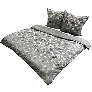 Leonado Vicenti - Warme Fleece Bettwäsche 200x200 kuschelig King Size Garnitur Set Schlafzimmer Winter Bezug Kissen