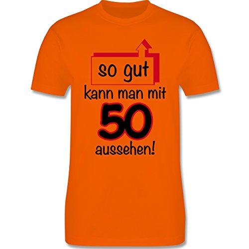Geburtstag - 50. Geburtstag So gut kann man aussehen - Herren Premium T-Shirt Orange