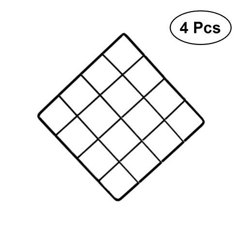 LIOOBO 4 stücke Draht Wand Grid Panel multifunktions Foto hängen Display und Wand speicherorganisator (Schwarz) -