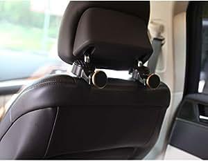 Support magnétique de téléphone pour voiture Valleycomfy, 2pièces 360°, pour appuie-tête avec support de siège arrière, crochet multifonction avec lumière intégrée