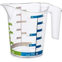 Rotho 2043969 Domino Cruche de Mesure Transparent 0,5 L