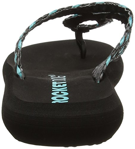 Rocket Dog - Sunglass, Sandali Donna Multicolour (Wavepool Black/Turquoise)