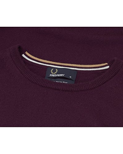 Fred Perry Herren Pullover Fp Classic Crew Neck Sweater, One size Mahogany