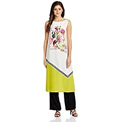 W for Woman Women's Straight Kurta (16AU16065-58117-14-WHITE)