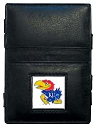 NCAA Kansas Jayhawks Leather Jacob's Ladder Wallet