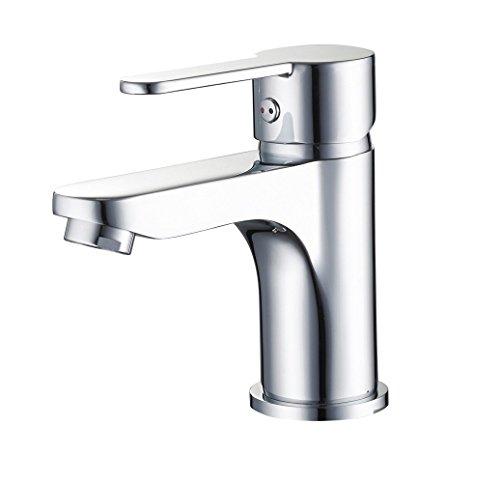 Eisl Waschtischarmatur Grande Vita Design mit Montage von Oben, Badezimmerarmatur mit PopUp-Ablauf-/Exzentergarnitur, Einhebelmischer, Chrom, NI075GVDCRTOP