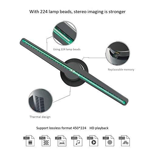Schimer 3D Holographischer Ventilator LED Werbung, Marketing/3D Hologram Advertising Display LED fan 42 cm mit Speicherkarte