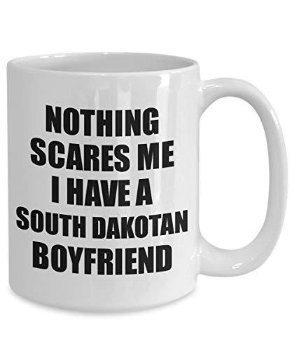 FloradeSweet South Dakotan Boyfriend Mug lustige Valentine Geschenk f¨¹r Gf Meine Freundin Ihr M?dchen South Dakota Bf Gag Nichts erschrickt Mich Kaffee Tee Tasse - Tee South Dakota
