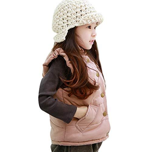 MCYs KinderMCYs Baby Winter Karikatur Tiermantel Mit Kapuze Jacke Starke Warme Oberbekleidung Kleidung (18M-6T) Ärmellose Volltonfarbe Plus Dicke Baumwoll Zwischenmantel Weste Aus Samt -