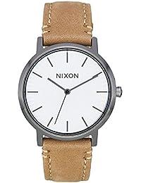 Nixon Mixte Analogique Quartz Montre avec Bracelet en Cuir A1199-2799-00