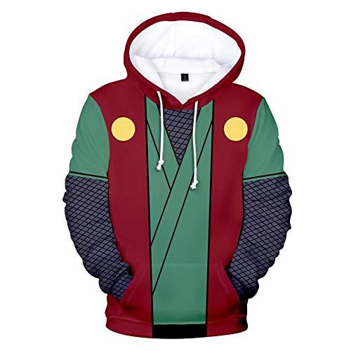 NJunicorn Uncle Naruto Kapuzenpullover Hokage Unisex Hoodie 3D Carton Pulli Casual Langarm Pullover Anime Pulli Outwear (06, XL)