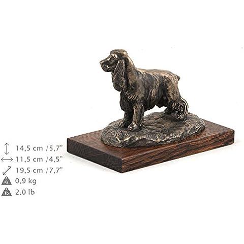 Cocker Spaniel Inglese, statua del cane in base legno, ArtDog