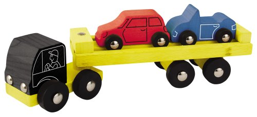 Eichhorn/Heros 100027842 - Holz Auto-Transporter, 3-teilig