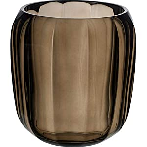 Villeroy & Boch Coloured DeLight Lantern Natural Cotton, 15.5 cm, Crystal Glass, Clear/Brown