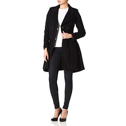LA CREME - Donna Lana e cashmere giacca da donna invernali a doppio petto Flary Giacca Nero