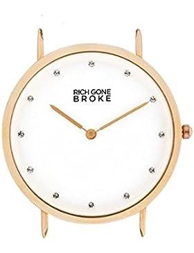 Armbanduhr Rich Gone Broke Zifferblatt 39mm aus weiß und Armband in rgmdcase