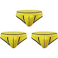 Desconocido JIER Calzoncillos Slip de Algodón Transpirable Ropa Interior para Hombre Elástica Underwear 3 Unidades
