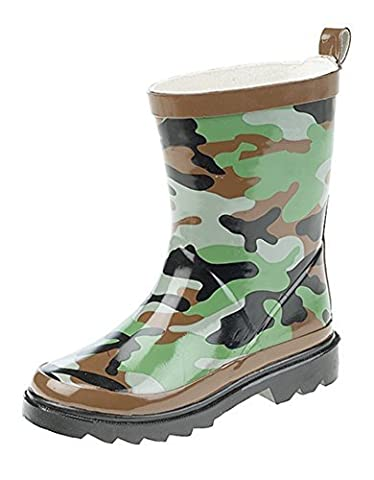 Boys Childrens Kids Infants Wellington Wellies Boots (6, Camouflage)