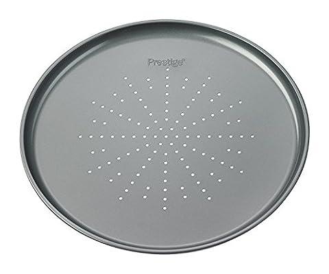Prestige Edelstahl 32 x 1.5 cm Pizza-Pfanne,