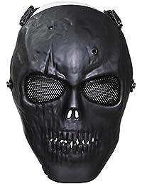 "Max Fuchs Face Mask ""Skull"" Black Full Protection Deco"