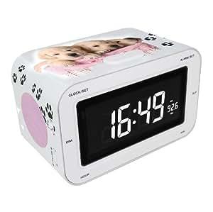 bigben rr30 radio alarm clock dogs tv. Black Bedroom Furniture Sets. Home Design Ideas